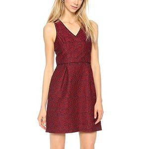 4.Collective Lace V-Neck Fit Flare Cocktail Dress